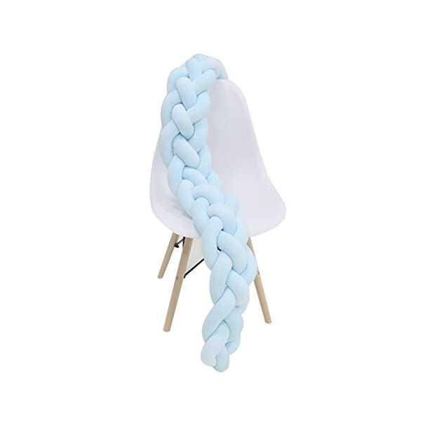 elegantstunning Baby Crib Bumper Knotted Braided Plush Nursery Pillow Cushion elegantstunning Made of high quality material, soft and comfortable, safe, durable. Avoid your baby's head, legs or hands bumping into crib, keeps your little ones safe. Fits all baby cribs or toddler stroller carriage, flexible to use. 1