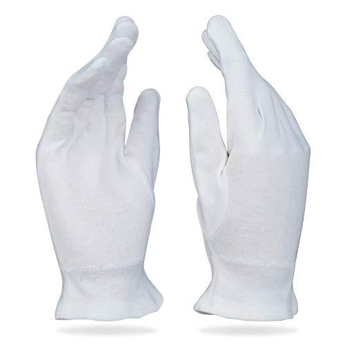 Beauty Care Wear Mittlere Weiße Baumwollhandschuhe Gegen Ekzeme, Trockene Haut & Zur Feuchtigkeitsspendende - 20 Handschuhe - Eine Medizinische Feuchtigkeitsspendende Feuchtigkeitscreme