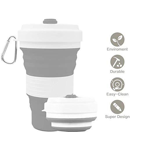 Inchant Collapsible Kaffee und Tee Reise-Becher, BPA frei Silikon Cup Sicher Wiederverwendbare...