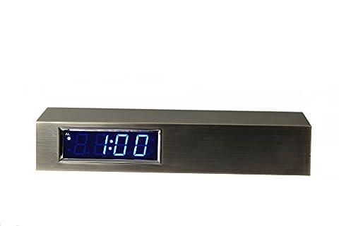 Digital Uhr Edelstahl Design Block