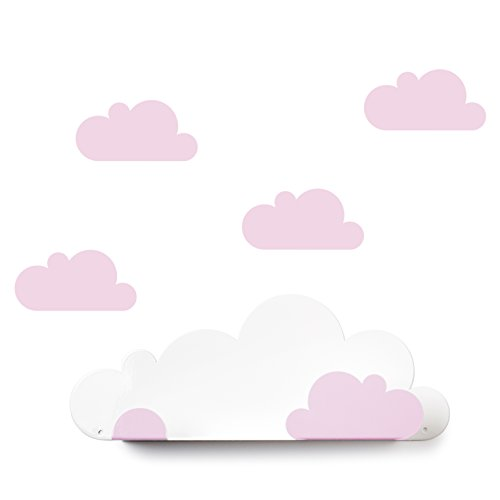 Tresxics scaffale nuvole, metallo, rosa, 37x 24x 7cm