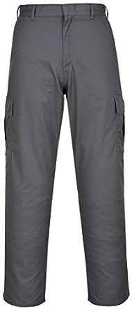 Portwest Pantalon cargo Gris 40r c701)