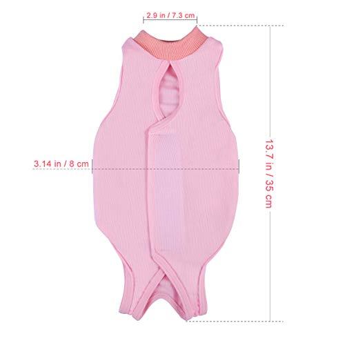 POPETPOP Recovery Suit Sterilisation Care Wipe Medizin Verhindern Lecken nach der Operation Tragen Weaning und Warm Recovery Tuch Anzug für Katzen Hunde Haustiere - Größe M (Pink) (Hunde Kegel Kostüm)