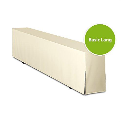 Bierbankhusse GEPOLSTERT - Basic Lang (nur Bank) (Creme)