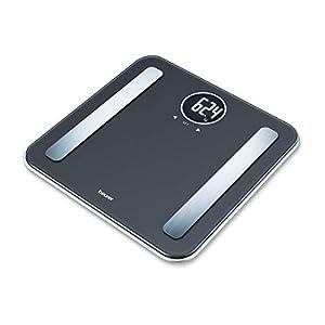 Beurer BF 198 Diagnosewaage, runde LCD-Anzeige, Körperfettmessung, 180 kg Tragkraft