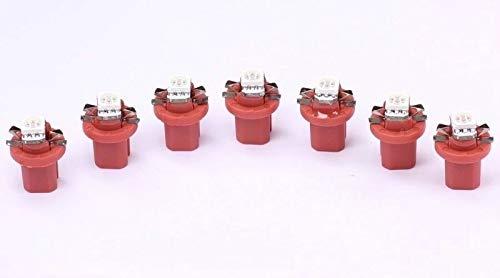 "7x rote high Power B8.5D LED Tachobeleuchtung Umbauset\""Top\"""