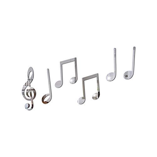 YEALINK ExtraíBle Vinilo Arte Nota Musical Etiqueta De La Pared De Pared DecoracióN para El Hogar Mural DIY CalcomaníAs