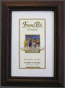 "25mm Quality H1 Rosewood Photo Picture Frame WOOD 12"" x 18"" (Plastic Glass)"