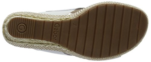 Gabor Shoes Comfort, Sandali con Zeppa Donna Bianco (weiss Bast)
