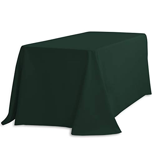 LinenTablecloth 90 x 396,2 cm Nappe Rectangle Polyester Hunter Vert