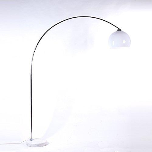 BIG BOW RETRO DESIGN LAMPE WEISS höhenverstellbar lounge stehlampe bogenlampe