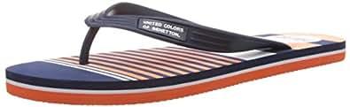 United Colors of Benetton Men's Navy,Orange and White 902 EVA Flip-Flops and House Slippers - 8 UK