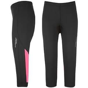 Muddyfox Padded Capri Cycling Tights Ladies Black/Pink 14 (L)