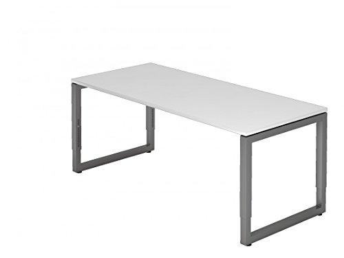 Schreibtisch DR-Büro - 180 x 80 cm - Bürotisch in 7 Farben erhältlich - höheneinstellbar 65 - 85 cm - Gestell Graphit - extrem stabile...