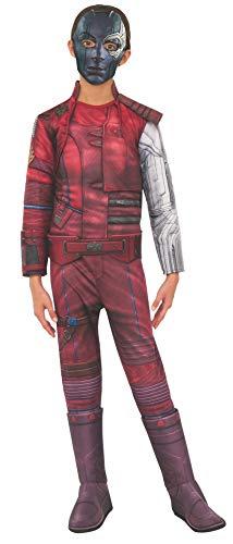 Rubie's Offizielles Avengers Endgame Nebula, Deluxe-Mädchen-Kostüm, Größe S, Alter 3-4, Höhe 117 cm (Für Rächer Mädchen Kostüme)