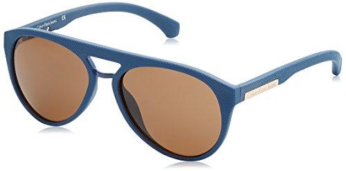 Calvin klein round eye occhiali da sole, blu (navy), 56 unisex-adulto