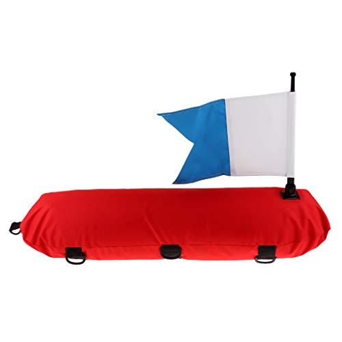 SUNNYBLUEE Boya Inflable Profesional para Buceo con escafandra y Logotipo de Buceo para el Buceo Libre Harpoon Snorkel Equipo de Marcado de Seguridad Azul