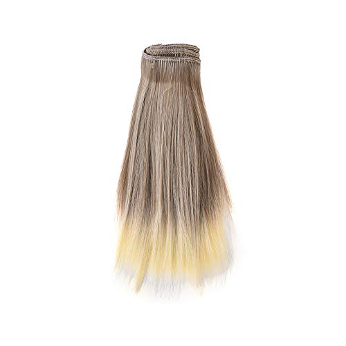 Großhandel-haar-bürste (TianranRT 1PC Mode 15X106Cm Großhandel Gerade Haar Haar Für DIY/BJD Perücke Puppe (H))
