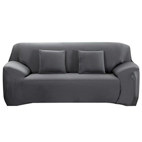 Souarts Sofabezug elastische Stretch SofaBezug mit 4 verschienden Größe Bezug Couchsessel für (3 Sitzer, 190-230cm, Grau)