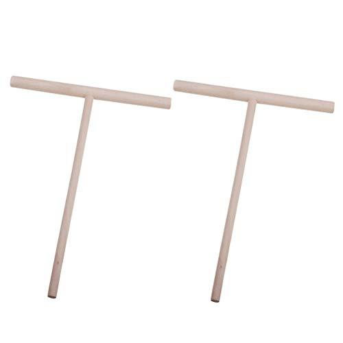 2 Stück Holz Crepe Verteiler Holz Hofmeister Holzwaren Crepes-Verteiler Crepes-Wender Crepesmaker Werkzeug