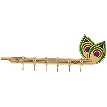 15f3f091572 Online Choice Lord Krishna s Flute Key Holder Key Stand with Peacock ...