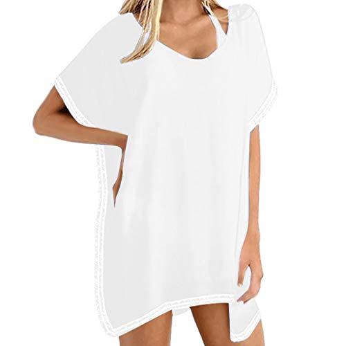Oksea Strandkleid Tunika Oberteil Damen Strandrock Bikini Blusen Strandurlaubs Sonnenschutzhemd Sommer Strand Kimono für