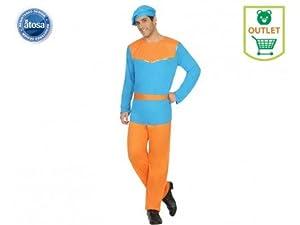 Atosa-31579 Atosa-31579-Disfraz PAJE Hombre Adulto-Talla Navidad, Color Azul, XS-S (31579)