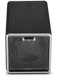 Watch Winder - Single Black PU Automatic 5 Modos de operación Reloj de Pulsera Winder