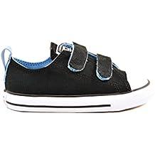 Converse Kids Ctas 2V Ox en negro y luz azul