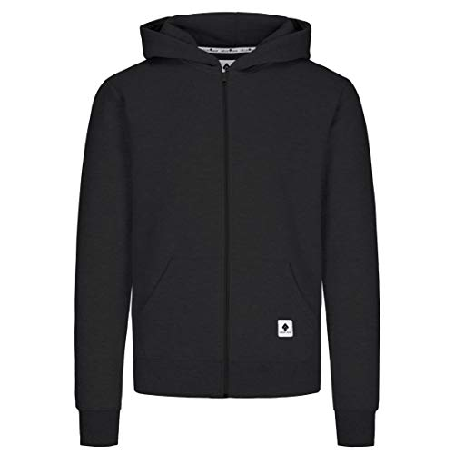 urban ace | Zip Hoodie, Sweatjacke, Pullover-Jacke | Herren, Unisex | für Fitness und Freizeit | grau oder schwarz | weich, mit hochwertiger Verarbeitung | S, M, L, XL (schwarz, M)