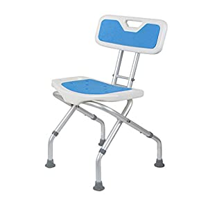 Huaaag Taburete De Ducha Plegable Ajustable Altura Silla De Ducha/Bañera para Personas Mayores con Discapacidad O…