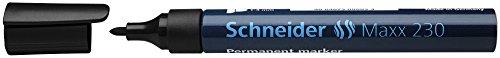 Schneider 944904 - Marcador permanente con punta redonda, color negro