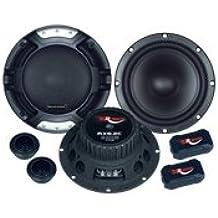 Renegade RX6.2C altavoz audio - Altavoces para coche (De 2 vías, 200W, 100W, 5,7 cm, 14,3 cm) Negro