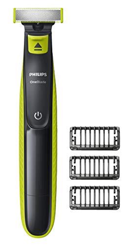 Philips OneBlade QP2520/25–Rifinitore per barba, Profilatore, rifinisce e rade, con spina inglese