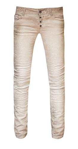 Coccara Damen Jeans Hose Curly New Women's Denim CN116706, Cn307 - Beige Snake, 30 -