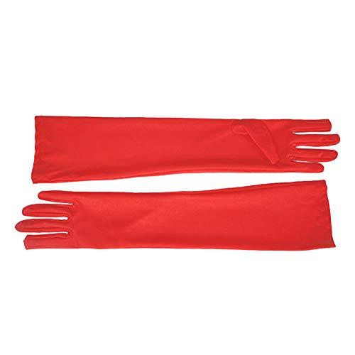 Xiton Nueva Larga Rojo 45 cm Guantes Disfraces Vestido