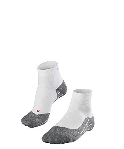 FALKE Herren Socken Laufsocken RU4 Short - 1 Paar, Gr. 44-45, weiss, feuchtigkeitsregulierend, Sportsocken Running - Zweite Haut-erste-hilfe