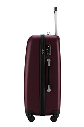 HAUPTSTADTKOFFER® Reisekoffer · Hartschalenkoffer · TSA Zahlenschloss + GEPÄCKGURT (74 Liter (Schwarz TSA)) 67 Liter (Burgund)