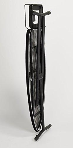 Jata Hogar Suprema Tabla de Planchar Ajustable en Altura y Plegable, Metal, Negro, 157 x 47x 7 cm