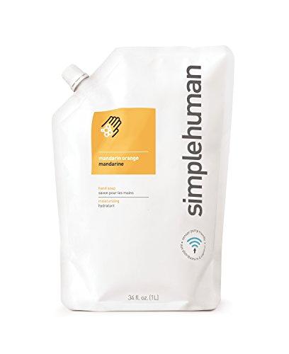 simplehuman Moisturising 1 Litre Mandarin Liquid Hand Soap Refill Pouch