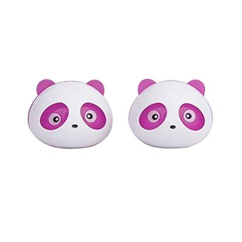 SODIAL(R) 2 Pcs Panda Assainisseur d'Air de Voiture Desodorisant Parfum avec Deux Clips rose