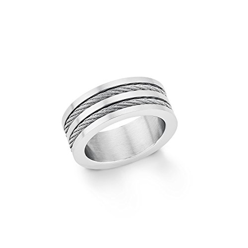 s.Oliver Herren-Ring modisch Edelstahl Gr. 64 (20.4) - 566476 (Ring Blau Männer)