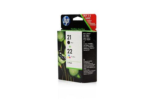 Original HP SD367AE445 / 21, 22, für OfficeJet J 5500 Series 2X Premium Drucker-Patrone, Schwarz, Cyan, Magenta, Gelb, 360 Seiten -