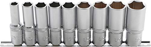"""BGS 2223   Steckschlüssel-Einsatz-Satz Sechskant, tief   9-tlg.   12,5 mm (1/2\"""")   SW 10 - 24 mm   CV-Stahl"""
