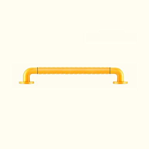 Acier inoxydable Sans barrières Salle de bain Sécurité Accoudoir Salle de bain Baignoire antidérapante Baignoire Personnes handicapées Ancien accoudoir ( Couleur : Le jaune , taille : 58cm )
