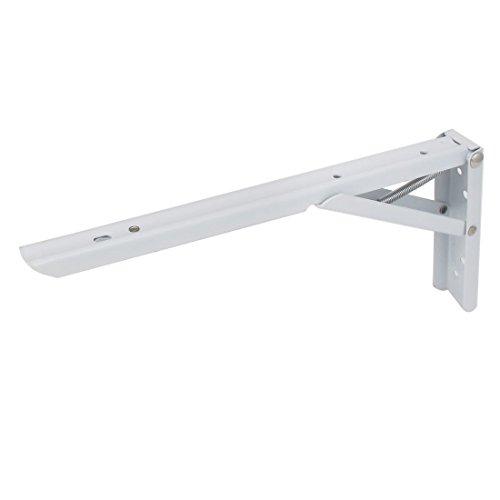 Sourcingmap® 12-inchx5Zoll L-förmige Metall rechts Winkel Klapptisch Regalwinkel (Klapptisch Halterung)