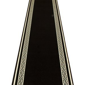 Carpet Runners UK Schlüssel Schwarz–Hall, Treppe Teppich Läufer (erhältlich in jede Länge bis 30m) (L Ft Schwarz Läufer 9)