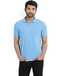Lotto Men's Plain Navy Regular Fit Polo T Shirt