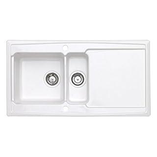 Astracast 1.5 Bowl Ceramic Reversible Kitchen Sink in White Gloss