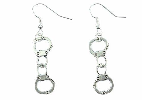 Handschellen Ohrringe Hänger Miniblings Polizei Handcuffs Handfesseln Mini